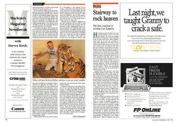 Article Preview: Stairway to rock heaven, November 1990 | Maclean's