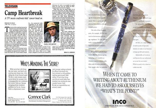 Article Preview: Camp Heartbreak, November 1990 | Maclean's
