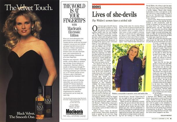 Article Preview: Lives of she-devils, November 1990 | Maclean's