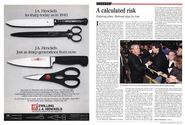 Article Preview: A calculated risk, November 1990 | Maclean's