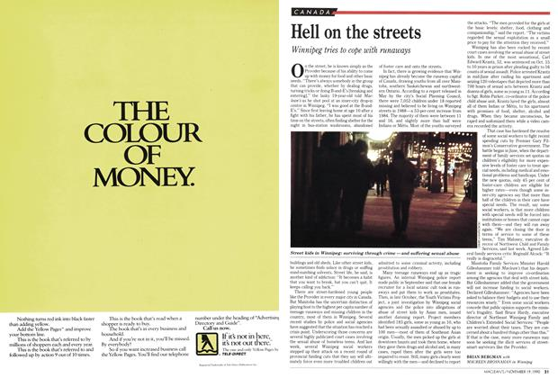 Article Preview: Hell on the streets, November 1990 | Maclean's