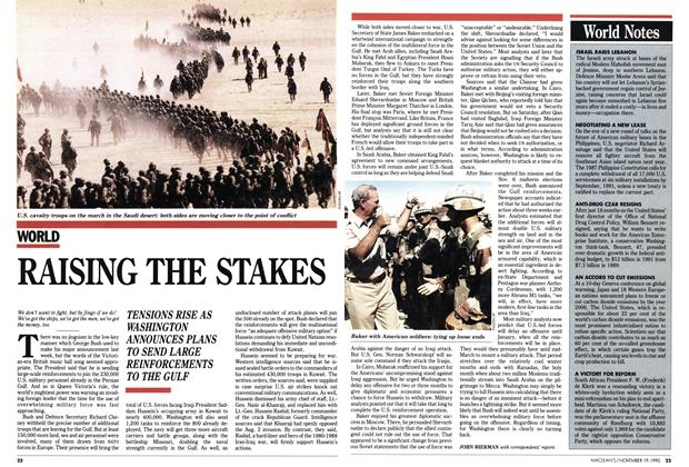 Article Preview: RAISING THE STAKES, November 1990 | Maclean's