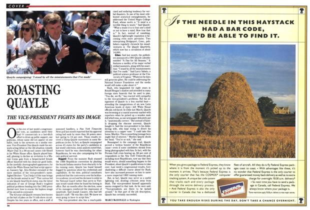 Article Preview: ROASTING QUAYLE, November 1990 | Maclean's