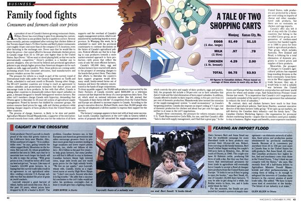 Article Preview: Family food fights, November 1990 | Maclean's