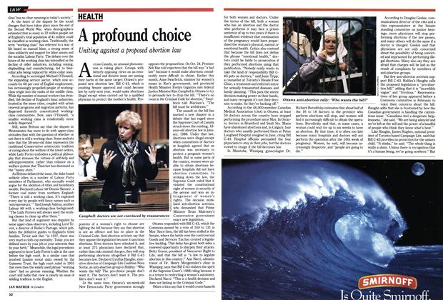 Article Preview: A profound choice, November 1990 | Maclean's