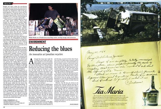 Article Preview: Reducing the blues, November 1990 | Maclean's