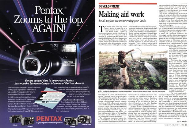Article Preview: Making aid work, November 1990 | Maclean's