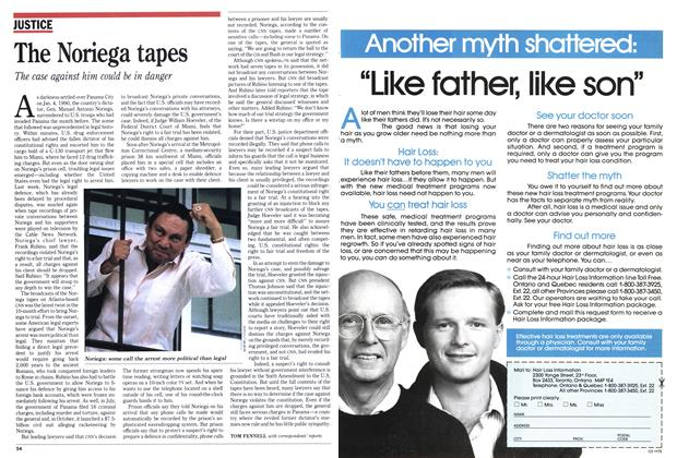 Article Preview: The Noriega tapes, November 1990 | Maclean's