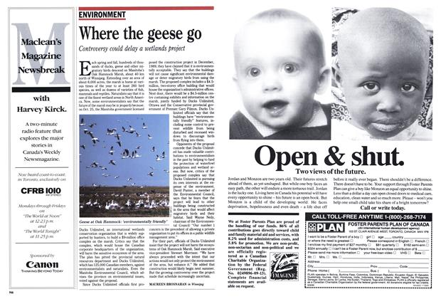 Article Preview: Where the geese go, November 1990 | Maclean's