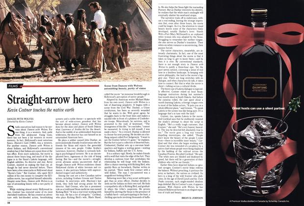 Article Preview: Straight-arrow hero, November 1990 | Maclean's