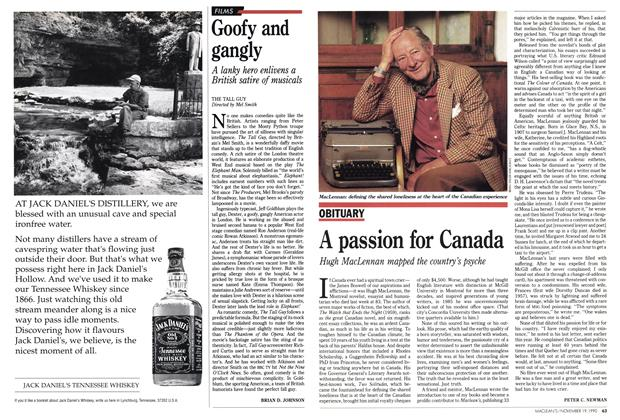 Article Preview: Goofy and gangly, November 1990 | Maclean's