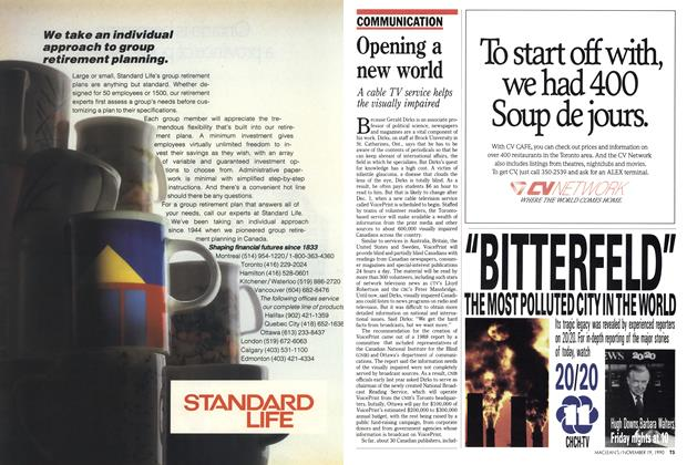 Article Preview: Opening a new world, November 1990 | Maclean's