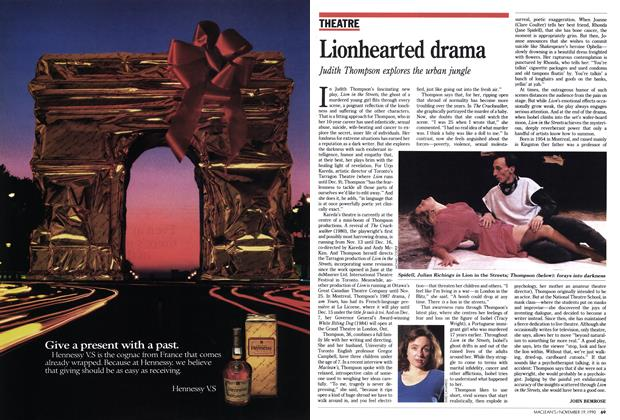 Article Preview: Lionhearted drama, November 1990 | Maclean's
