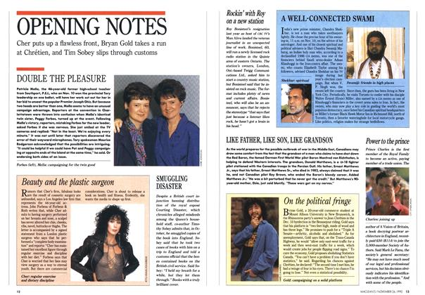 Article Preview: OPENING NOTES, November 1990 | Maclean's