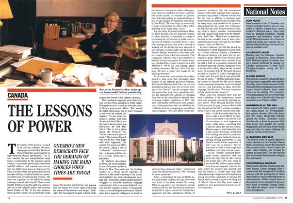 Article Preview: THE LESSONS OF POWER, November 1990 | Maclean's