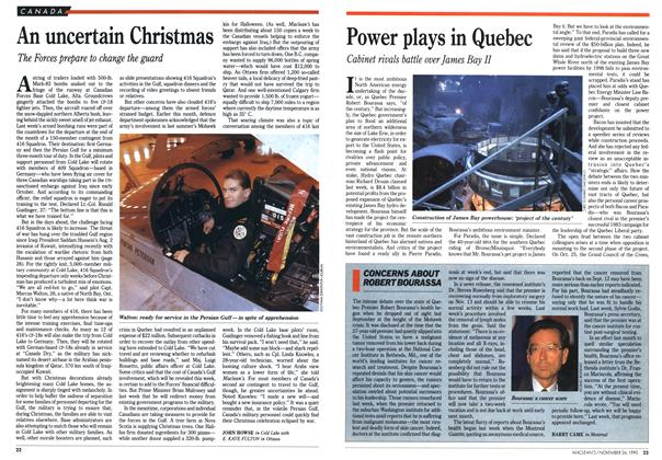 Article Preview: An uncertain Christmas, November 1990 | Maclean's