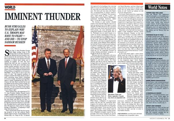 Article Preview: IMMINENT THUNDER, November 1990 | Maclean's
