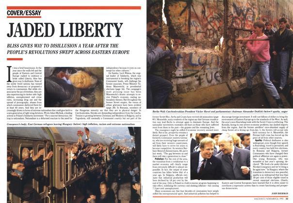Article Preview: JADED LIBERTY, November 1990 | Maclean's