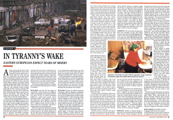 Article Preview: IN TYRANNY'S WAKE, November 1990 | Maclean's