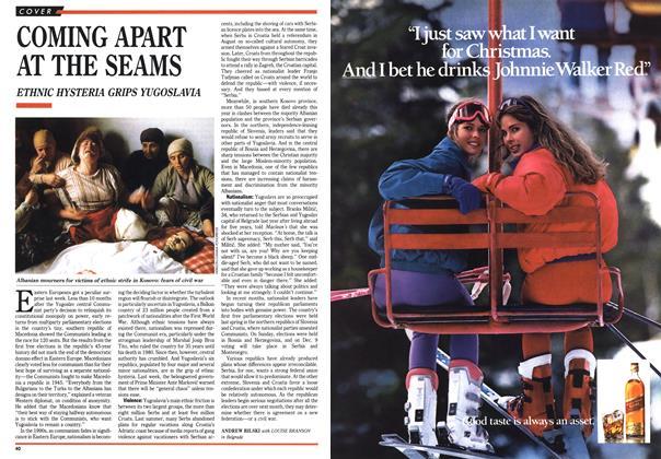 Article Preview: COMING APART AT THE SEAMS, November 1990 | Maclean's