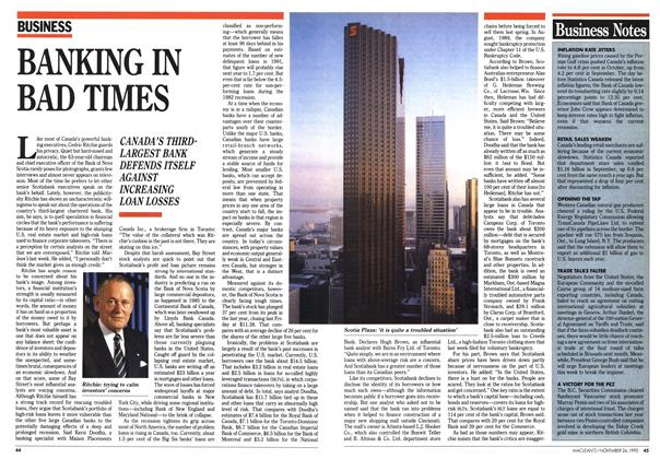 Article Preview: BANKING IN BAD TIMES, November 1990 | Maclean's