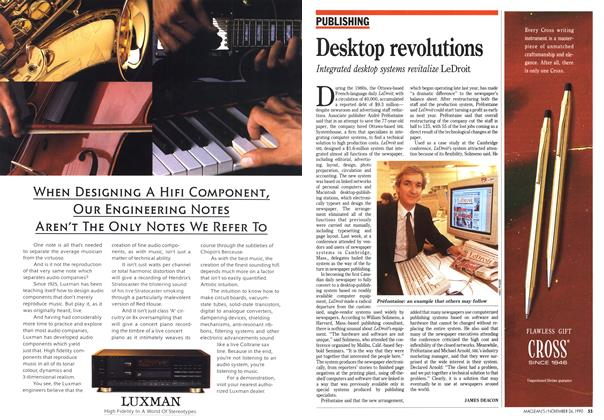 Article Preview: Desktop revolutions, November 1990 | Maclean's