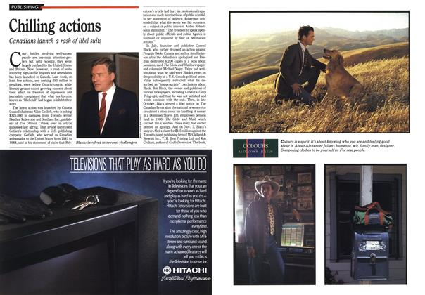 Article Preview: Chilling actions, November 1990 | Maclean's