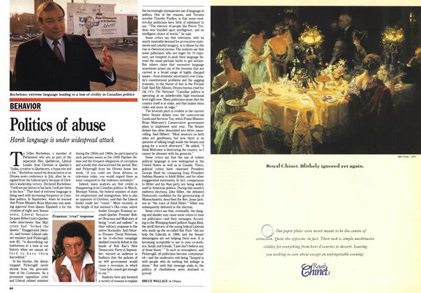 Article Preview: Politics of abuse, November 1990 | Maclean's