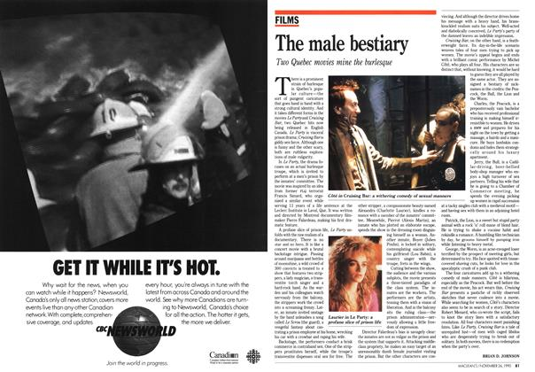 Article Preview: The male bestiary, November 1990 | Maclean's