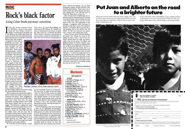 Article Preview: Rock's black factor, November 1990 | Maclean's