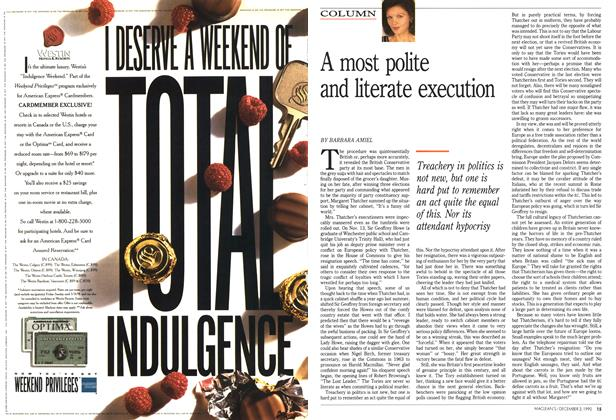 Article Preview: A most polite and literate execution, December 1990 | Maclean's
