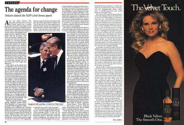 Article Preview: The agenda for change, December 1990 | Maclean's