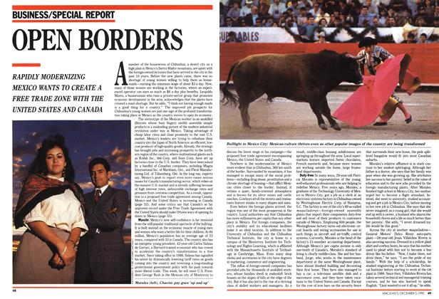 Article Preview: OPEN BORDERS, December 1990 | Maclean's