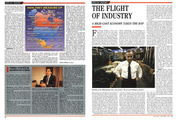 Article Preview: THE FLIGHT OF INDUSTRY, December 1990 | Maclean's
