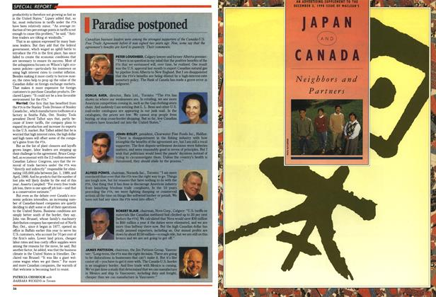 Article Preview: Paradise postponed, December 1990 | Maclean's