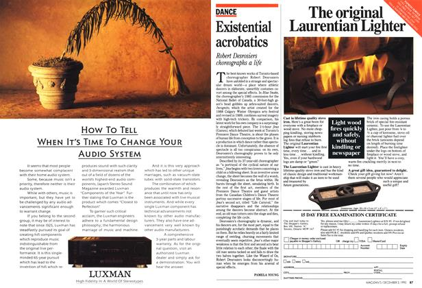 Article Preview: Existential acrobatics, December 1990 | Maclean's