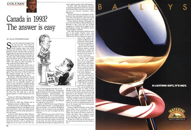 Article Preview: Canada in 1993? The answer is easy, December 1990 | Maclean's