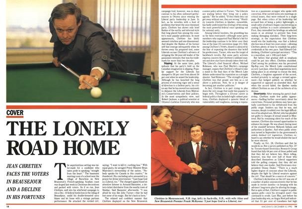 Article Preview: THE LONELY ROAD HOME, December 1990 | Maclean's
