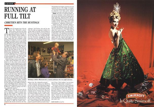 Article Preview: RUNNING AT FULL TILT, December 1990 | Maclean's