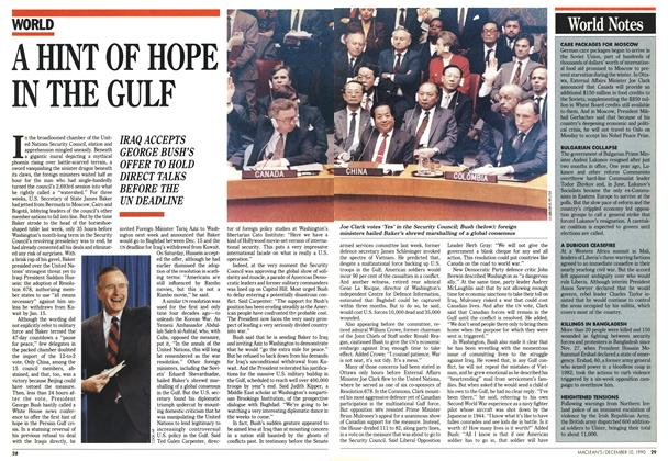 Article Preview: A HINT OF HOPE IN THE GULF, December 1990 | Maclean's