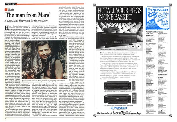 Article Preview: 'The man from Mars', December 1990 | Maclean's
