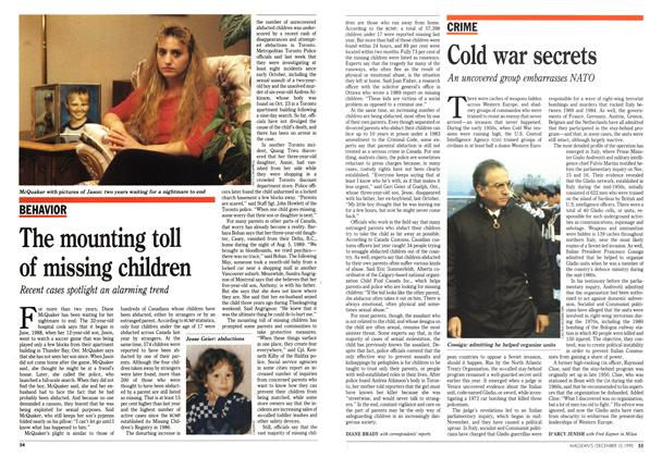 Article Preview: The mounting toll of missing children, December 1990 | Maclean's