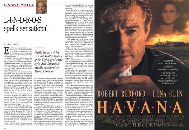 Article Preview: L-I-N-D-R-O-S spells sensational, December 1990   Maclean's