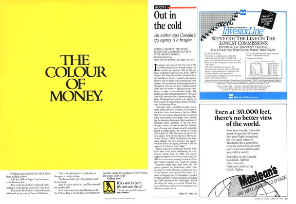 Article Preview: Out in the cold, December 1990 | Maclean's