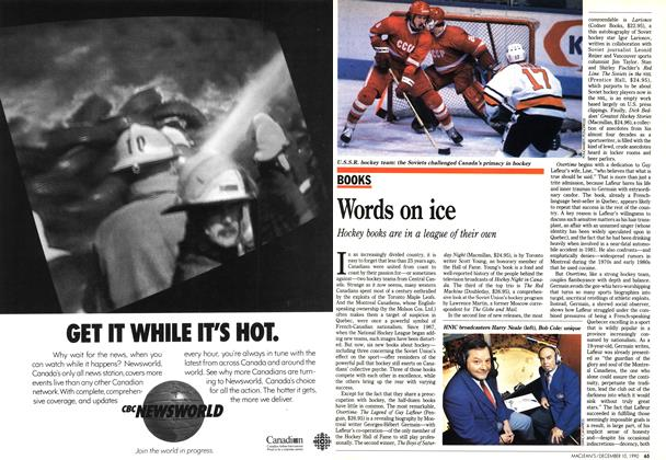 Article Preview: Words on ice, December 1990 | Maclean's