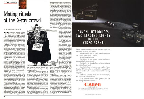 Article Preview: Mating rituals of the X-ray crowd, December 1990 | Maclean's