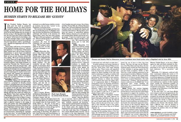 Article Preview: HOME FOR THE HOLIDAYS, December 1990 | Maclean's