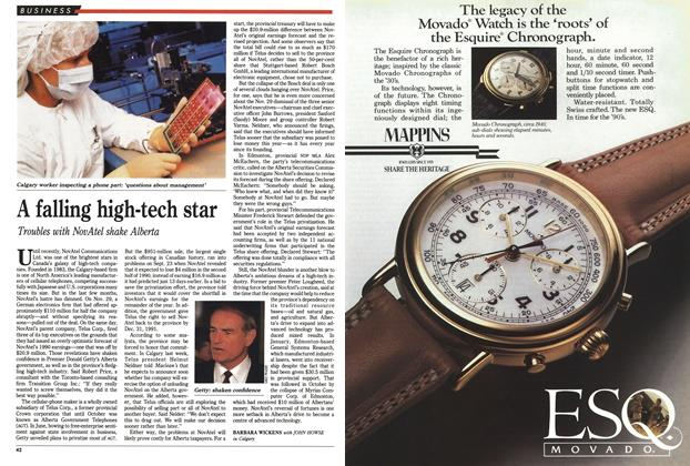 Article Preview: A falling high-tech star, December 1990 | Maclean's