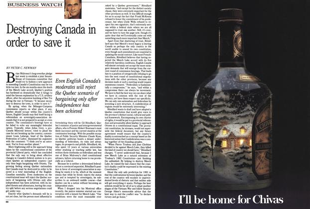 Article Preview: Destroying Canada in order to save it, December 1990 | Maclean's