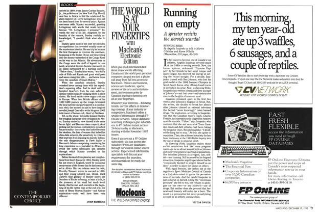 Article Preview: Running on empty, December 1990 | Maclean's